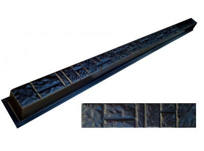 """Форма для столба №1 """"Колотый камень"""" без пазов. Размеры 125x125х2800 мм"""