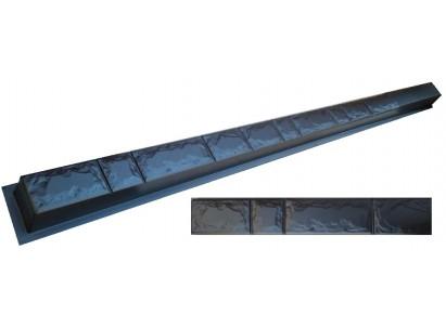"Форма для столба №5 ""Колотый кирпич"" без пазов. Размеры 125х125х2800 мм"