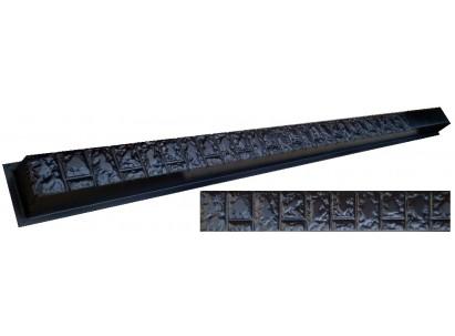 """Форма для столба №17 """"Фагот"""" без пазов. Размеры 125х125х2800 мм"""