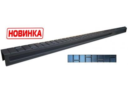 """Форма для столба распашная №26 """"Кирпич гладкий"""" с пазами. Размеры 120х120х2850 мм"""