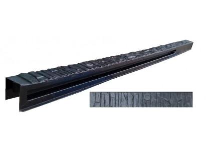 """Форма для столба распашная №32 """"Песчаник"""" с пазами. Размеры 150х135х2850 мм"""