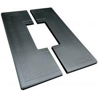 Форма плиты противоусадочной под памятник №12. Размеры 1950х650х50мм, вырез 790х200мм