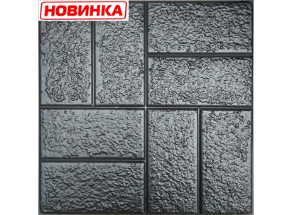 "Форма для изготовления плитки №25""Кирпич шагрень"" 500х500х50 мм"