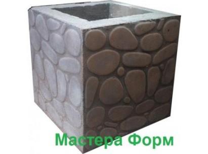 Форма столба наборного Галька Размеры: 300х300х295 мм