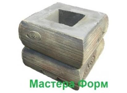 Форма столба наборного Брус-1 Размеры: 295х295х245 мм