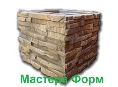 Форма столба наборного Песчанник Размеры: 300х300х265 мм