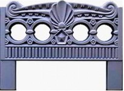 Форма для изготовления оградок №5 Размеры: 800х600х40 мм