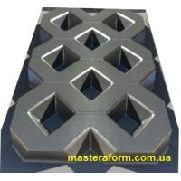 """Форма для изготовления плитки """"Газонная решотка"""" 600х400х60 мм"""