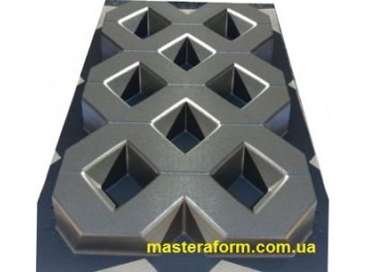 """Форма для изготовления плитки №29""""Газонная решетка"""" 600х400х60 мм"""