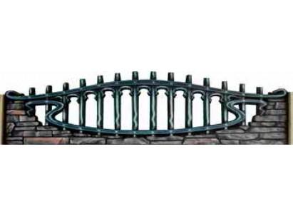 Форма для забора из стеклопластика №151 Размеры: 2000х650х40 мм